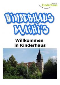 """Broschuere """"Kinderhaus macht's"""""""