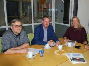 """Bei der Workshop-Planung: (v.l.) Heiko Philippski, Marc Weßeling (""""Kinderhaus macht´s"""") und Martina Kreimann (FreiwilligenAgentur) / Foto: FreiwilligenAgentur Münster"""